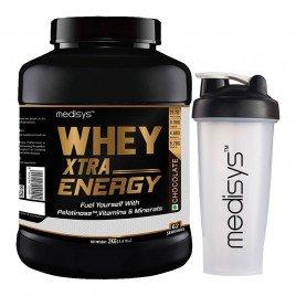 Medisys Whey Xtra Energy 2Kg [Free Shaker]